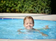 Pleasure in the pool Royalty Free Stock Photography