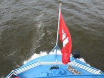 Pleasure ship Harbor Hamburg Germany. Pleasure ship Elbe harbor Hamburg in Germany stock photography