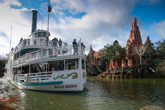 Pleasure ship Molly Brown at Disneyland Paris Stock Images
