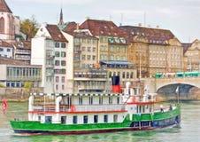 Pleasure ship on Rhine, Basel Royalty Free Stock Photos