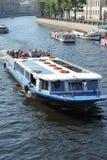 Pleasure ships floating on the river Fontanka Royalty Free Stock Photo
