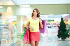 Pleasure of shopping Stock Photography