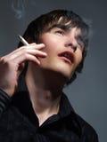 Pleasure of smoking Royalty Free Stock Photo