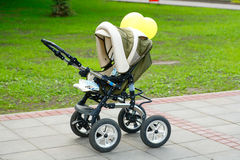Pleasure stroller Stock Image