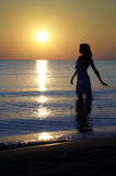 Pleasure of the sunset Royalty Free Stock Photography
