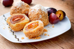 Pleasure - sweet pleasure (plum dumplings) Royalty Free Stock Photography