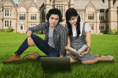 Pleasure time while studying Stock Image