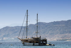 Pleasure yacht in the Red sea, Eilat Stock Photos