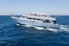 Pleasure yacht in the Red sea Royalty Free Stock Image