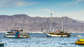 Pleasure yachts in the Red sea Stock Images
