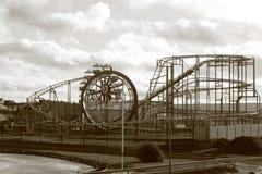Pleasureland en el invierno Fotos de archivo