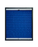 Pleated blind dark navy blue color. Pleated blind isolated on white background Stock Photos
