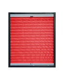 Pleated blind - red color Royalty Free Stock Photography