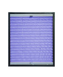 Pleated blind  - violet purple color Stock Photo