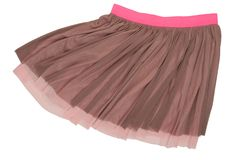 Pleated caprone skirt stock images