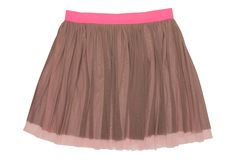 Pleated caprone skirt Royalty Free Stock Photography