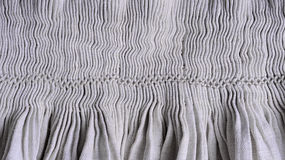 Pleated homespun fabric Stock Image