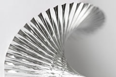 Pleated Silver Party Garland Close-up Royalty Free Stock Image