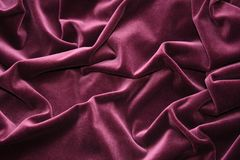 Pleated velvet. For backgrounds and textures stock photo