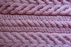 Pleats делают по образцу на ткани связанной пинком стоковое фото rf