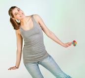 pleayful έφηβος κοριτσιών Στοκ φωτογραφία με δικαίωμα ελεύθερης χρήσης