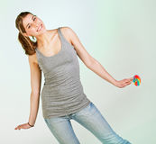 Pleayful teenager girl Royalty Free Stock Photography
