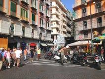 Plebiscito s fyrkant, Naples - Italien Fotografering för Bildbyråer