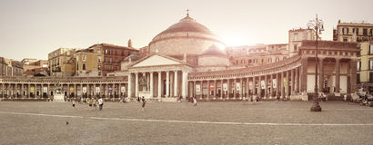 Plebiscito's Square - Naples IT Stock Photos
