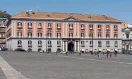 Plebiscito Square, Naples, Italy Stock Image