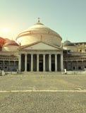 Plebiscitos vierkant, Napels - Italië Stock Foto's