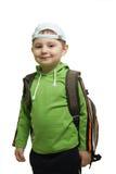 plecak chłopcy się uśmiecha Zdjęcie Royalty Free