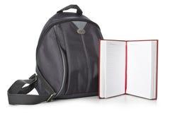 Plecak i książki Obrazy Stock