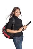 plecaka azjatykci piękny żeński uczeń Obrazy Royalty Free