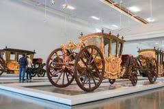 Plechtig Voertuig, Frankrijk 1666 Nationale Bus Museum in Lissabon royalty-vrije stock afbeelding
