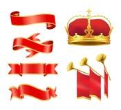 Plechtige Gebeurtenis of Ceremonie Edele Heraldische Symbolen royalty-vrije illustratie