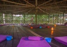 Plechtige hut voor Ayahuasca stock afbeeldingen