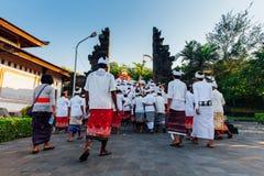 Plechtige optocht, Bali, Indonesië Royalty-vrije Stock Fotografie
