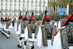 Plechtige parade in Athene Stock Foto