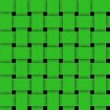 Pleciony - Zielony Abstrakcjonistyczny tekstury tło Obrazy Stock