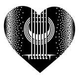 Plectre monochrome élégant pour la guitare Illustration de vecteur photos stock