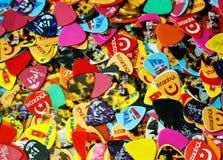 Plectres colorés pour la guitare photographie stock libre de droits