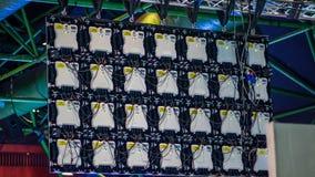 Plecy DOWODZONY ekran używał transmitować od konferenci zdjęcia royalty free