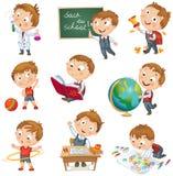 Plecy szkoła royalty ilustracja