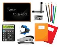 Plecy szkoła, elementy Zdjęcia Stock