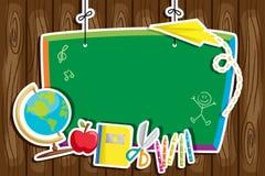 Plecy szkolny tło Fotografia Stock