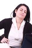 plecy szyja jej ból Zdjęcie Royalty Free