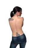 plecy tatuaże nadzy żeńscy Fotografia Royalty Free
