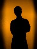 plecy zaświecająca mężczyzna sylwetka Fotografia Royalty Free