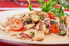 Pled fish pancake Stock Photos