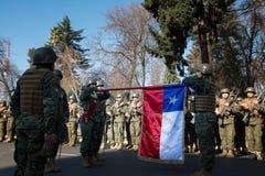 Pledge of Allegiance, Chile Stock Image